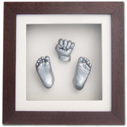 solid wood frame deep enough to accommodate plaster or clay prints