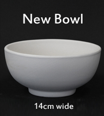 New bisque bowl