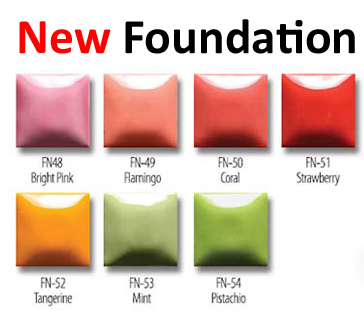 New foundation glazes