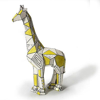 MB1431 faceted giraffe