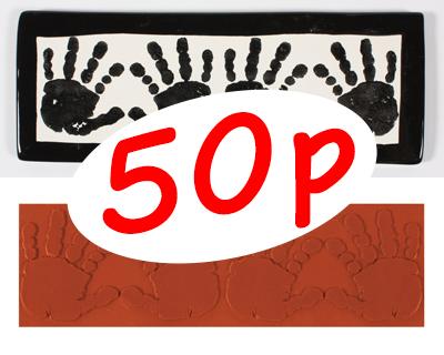 Funky Handprints Stamp MAT336