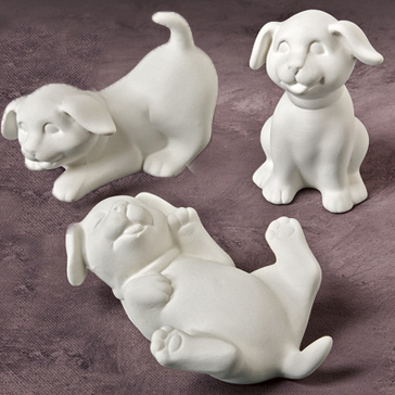 Playful Puppies 8cm tall MB0877