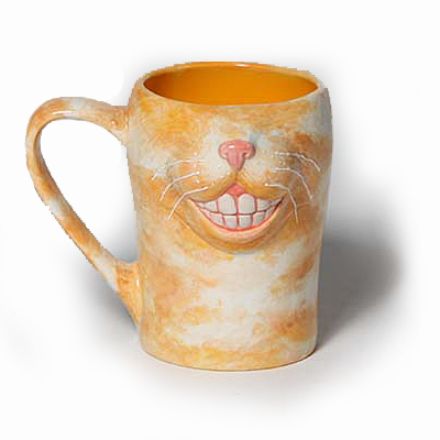 Smiley cat mug