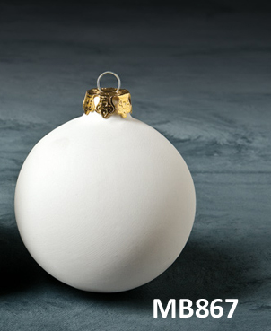 christmas bauble bisque