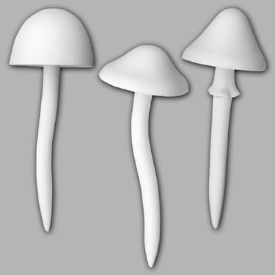Mushroom garden stakes x 3 CD0602