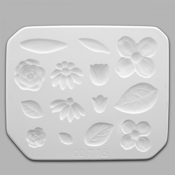 Flowers and Leaves Press Mould CD0778