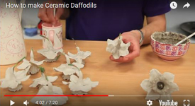 Ceramic Daffodils video