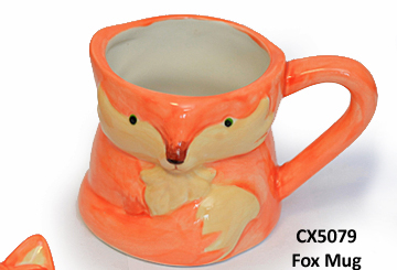 Fox mug bisque