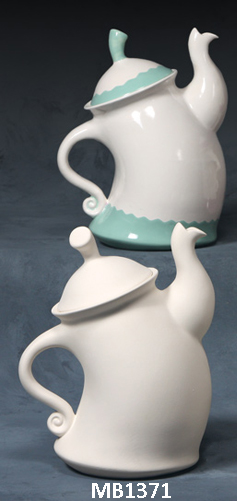 Dancing Teapot bisque