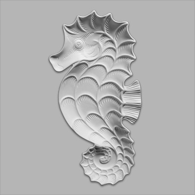 Seahorse Dish 23cmL x 2.5cmT MB1381