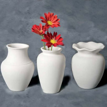 Great Shapes Vases (3 designs) 15cm Tall MB0885