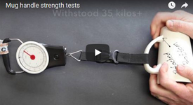 Mug handle strength test