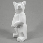 Bisque faceted bear