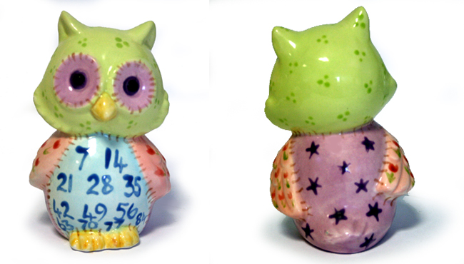 Owl painted ceramic