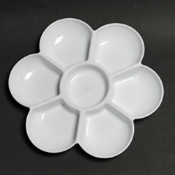 Flower shaped plastic palette FP45