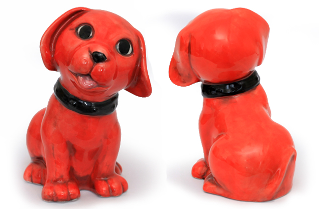 red dog painted