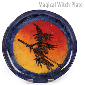 witches plate