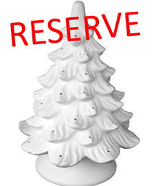 Reserve bisque Christmas Tree