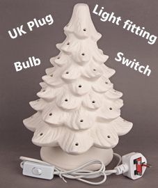 Bisque Tree with Plug UK